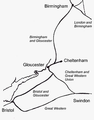 Sketchmap of Railway described on this page
