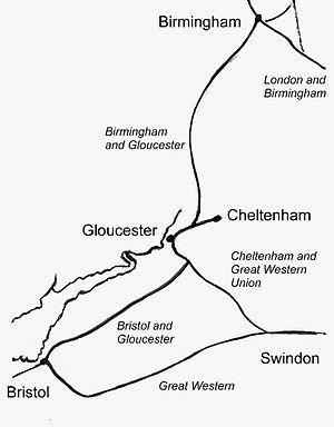 Birmingham and Bristol Railway - Image: Birm bris rly