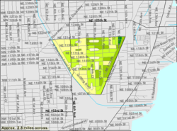 U.S. Census Bureau map showing village boundaries
