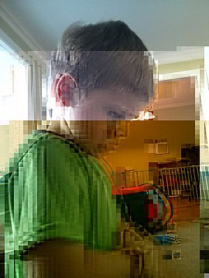 Data degradation - Image: Bitrot in JPEG files, 2 bits flipped
