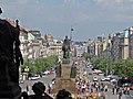Blick vom Nationalmuseum über den Wenzelsplatz Richtung Můstek, Praha, Prague, Prag - panoramio.jpg