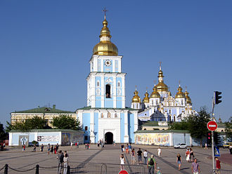Ukrainian nationalism - St. Michael's Monastery in Kiev.