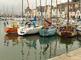 Weymouth Harbour, Dorset - Boats in Weymouth Harbour.