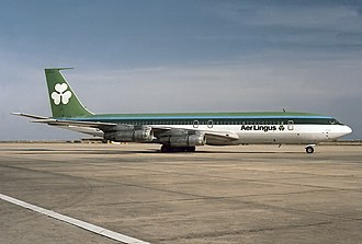 Transbrasil Flight 801 - The Boeing 707-349C involved in the Aer Lingus livery 3 years before the accident