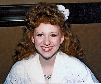 "Bonnie Langford - Langford during the Doctor Who ""Whovent"" Convention tour, September 1986"