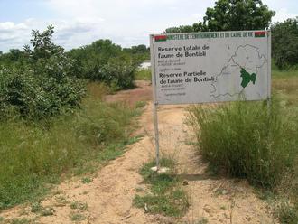 Bontioli Reserve - Entrance sign