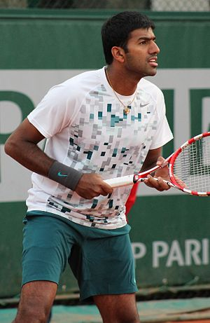 Rohan Bopanna - Rohan Bopanna at the 2013 French Open