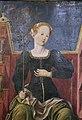 Bottega di cosmè tura, musa erato, 1450 ca., dallo studiolo di belfiore, 02.jpg