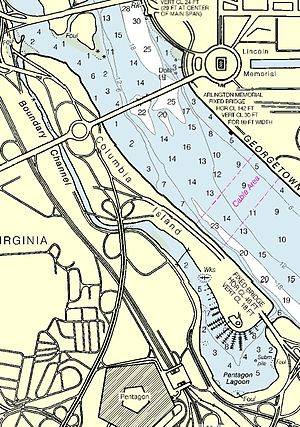 Boundary Channel - Map of area surrounding Boundary Channel and the Pentagon Lagoon