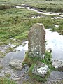 Boundary stone near Dick's Well - geograph.org.uk - 1358397.jpg