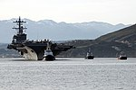 Bow view of USS George H.W. Bush (CVN-77) entering Souda Bay with tugs 170225-N-XR948-021.jpg