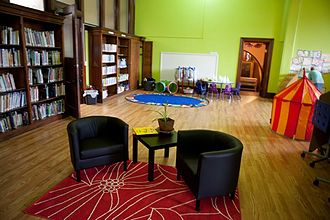 Carnegie Free Library of Braddock - Children's Library, created from part of former stacks area and opened March, 2012.