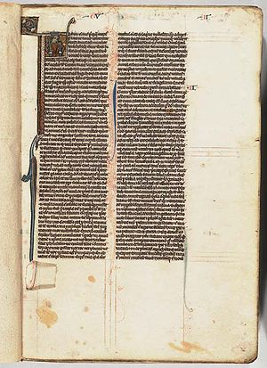 William de Brailes - Typical page from a small Brailes bible