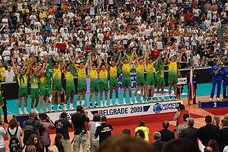 Brazil men's national volleyball team - Image: Brazil World League 2009