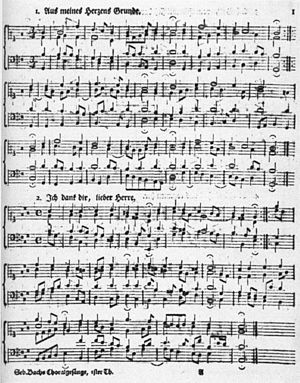 Four-part harmony - Examples of baroque four-part writing: two chorale harmonizations by Johann Sebastian Bach (BWV 269 and BWV 347)