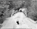 Bridge across Virgin River near South Entrance, access to properties east of river. ; ZION Museum and Archives Image 103 01 006 (fdf1459ec57647f5a5803b1abe5c5930).tif