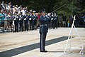 Brig. Gen. Enrique Amrein, chief of the General Staff of the Argentine Air Force, Participates in a U.S. Air Force Full Honors Wreath-Laying Ceremony at the Tomb of the Unknown Soldier (35189872814).jpg