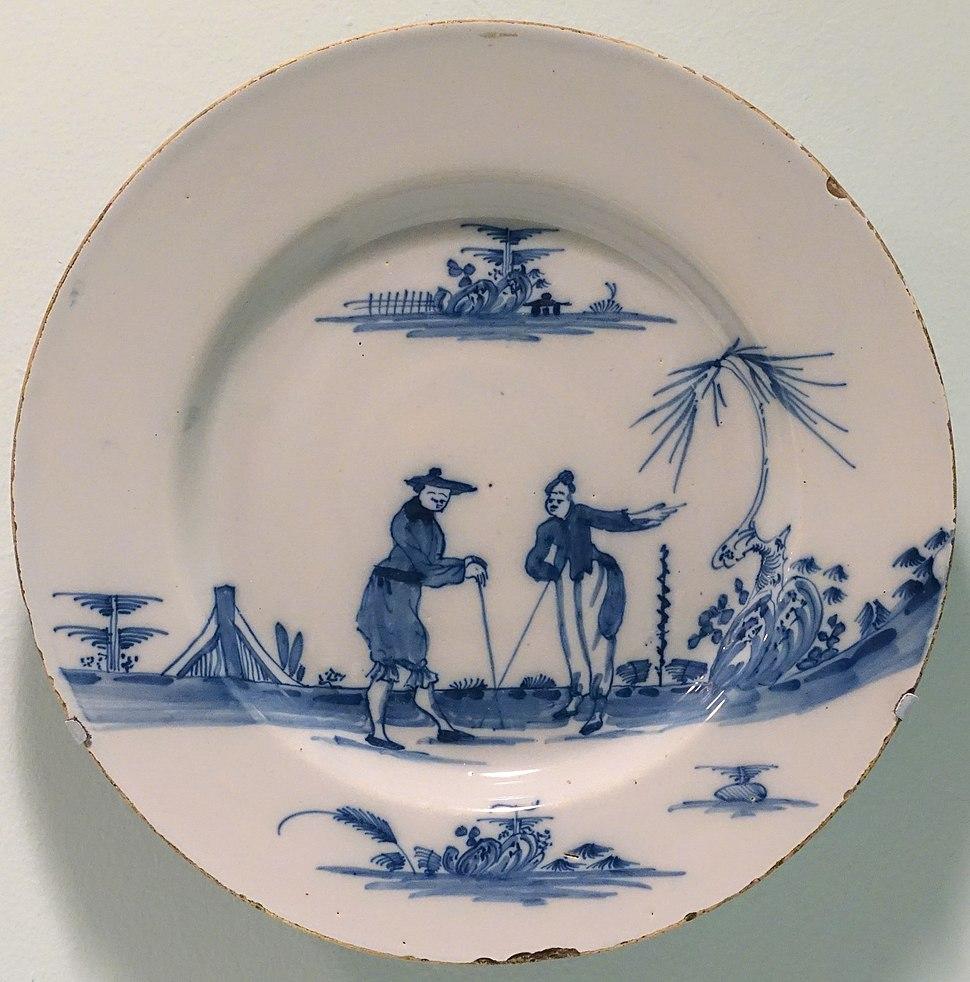 Bristol Delft plate, Bristol, England, 1750-1775, lead-glazed earthenware - Krannert Art Museum, UIUC - DSC06630