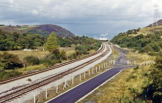 Llandarcy oil refinery - Railway to the site in 1973