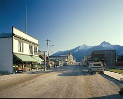 Broadway Avenue, Skagway, in the 1970s