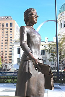 Bronze Sculpture of Frankie Muse Freeman
