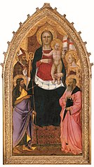 Madonna and Child Enthroned with Saints Zenobius, John the Baptist, Reparata and John the Evangelist