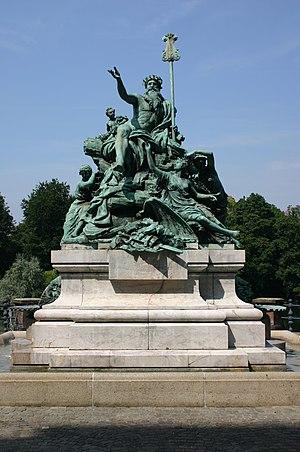 Karl Janssen - Father Rhine and his Daughters, bronze fountain, (1884) 1897 (Düsseldorf)