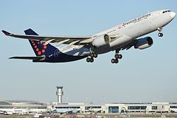 Brussels Airlines A330 at Pearson.jpg