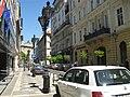 Budapest, V. Hercegprímás utca, 13 (pharmacy) and 15 (supermarket).jpg