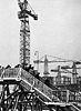 Budowa Pałacu Kultury i Nauki widziana z podestu widokowego 1952.jpg