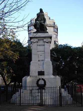 Guillermo Rawson - Memorial to Guillermo Rawson in Buenos Aires.