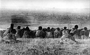 Balkan Wars - Bulgarian forces waiting to start their assault on Adrianople
