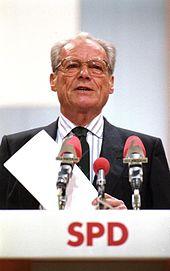 Willy Brandt nel 1988 al raduno del partito a Münster
