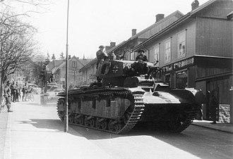 Neubaufahrzeug - Neubaufahrzeug in Norway in April 1940