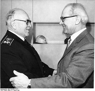 Sergey Gorshkov - Gorshkov meeting East German leader Erich Honecker, 1980