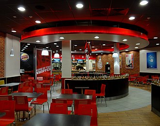 Burger King - An example of the 20/20 concept interior at a Burger King in Cork, Ireland