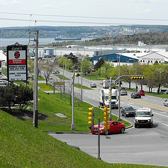 Bedford Basin - The east shore of the basin is home to Burnside Industrial Park. Bedford Bay may be seen in the background.
