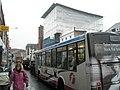 Bus passing tarpaulined building in London Road - geograph.org.uk - 770453.jpg
