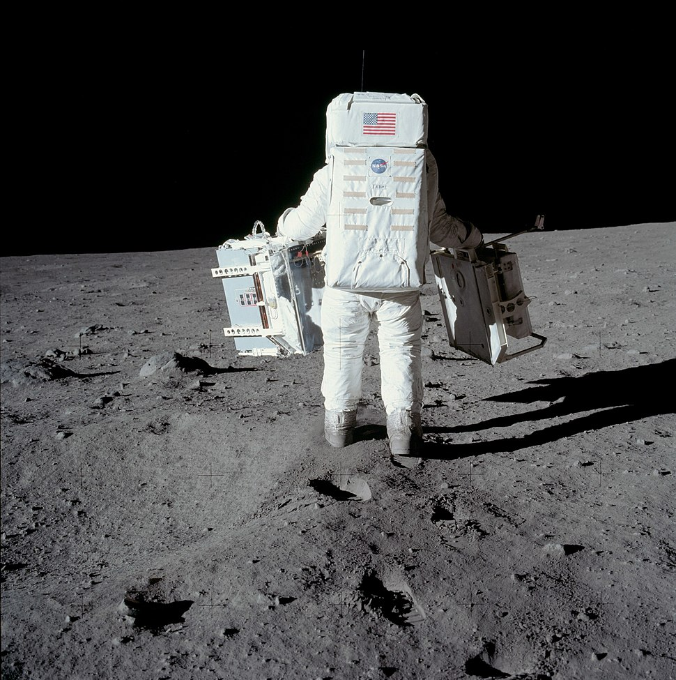 Buzz Aldrin carries the EASEP