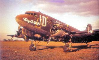 RAF Fulbeck - Douglas C-47A Skytrain of the 74th TCS/434th TCG at Fulbeck.