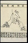 C20 Chinese medical illustration in trad. style; Hand massage Wellcome L0039661.jpg