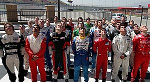Atlantic Championship - 2006 Champ Car Atlantic Drivers pose for group photo at California Speedway