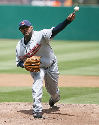 CC Sabathia - Sabathia pitching for the Indians on May 6, 2007