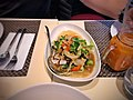 CHILEAN SEA BASS with SUKI SAUCE (Spicy) Steamed sea bass topped with our special spicy chili sauce. Served on top of steamed vegetables.jpg