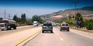 California State Route 126 - SR 126 east of Fillmore