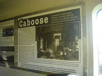 Vegreville - CNR Caboose plaque in Vegreville