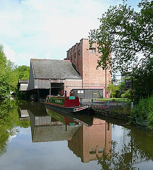 "Cadbury - Cadbury Wharf, Knighton, Staffordshire. It was operated by Cadbury between 1911 and 1961 to process locally collected milk and produce ""chocolate crumb"" which was transported to Cadbury's in Bournville."
