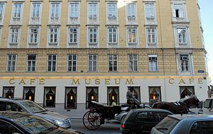 Café Museum - Café Museum, view from outside, Operngasse, 2012