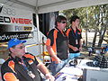 Cal Phillips, Radio Announcer. Bryan Moloney, Commentator. Mick Caldwell, Commentator..JPG