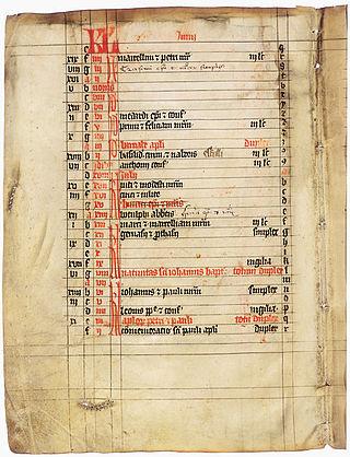 Calendar of saints image